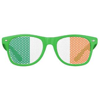 Irische Flagge Retro Sonnenbrillen
