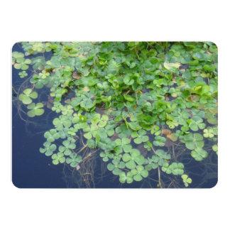 Irische Frühlings-Klee-Hochzeits-Einladung 12,7 X 17,8 Cm Einladungskarte