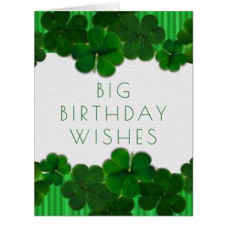 Irische Geburtstags-Mädchen-oder Typ-große Karte