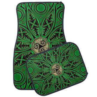 Irische grüne Celtic Triskele Mandala Automatte