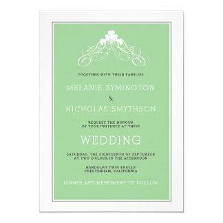 Irische Hochzeits-Bogen-Einladung 3991 Karte