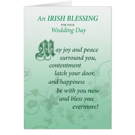 Irische Hochzeits-Segen-Glückwunsch-Karte Grußkarte