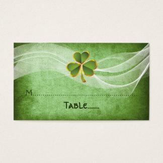 Irische Platzkarte des Klees u. grüne irische der Visitenkarte
