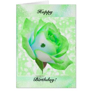 Irische Rose und Geburtstag! Grußkarte