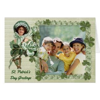 Irische Rosen-Foto-Grüße Karte
