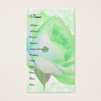 Irische Rosenschablone Visitenkarte