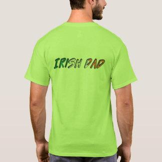 Irische Vati-Irland-Flaggen-Typografie T-Shirt