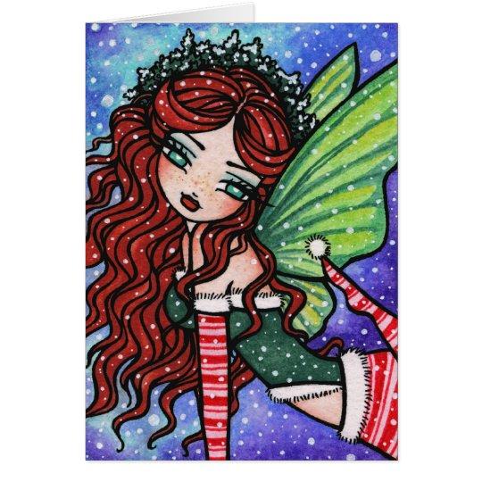 Irische WeihnachtsFeen-feenhafte Grußkarte