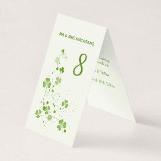 Irische Wirble Kleeblatt Tischnummer Visitenkarten