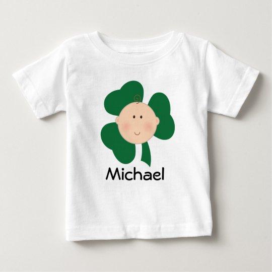Irischen Baby-Kleeblatt-St Patrick Tagest-stück Baby T-shirt