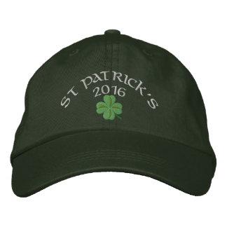 Irischen Kleeblatt St Patrick Tag Bestickte Kappe