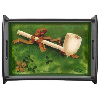 Irischen Rohr-St Patrick TagesServiertablett Tablett