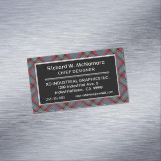 Irischer Akzent-Clan MacNamara Tartan Magnetische Visitenkarten