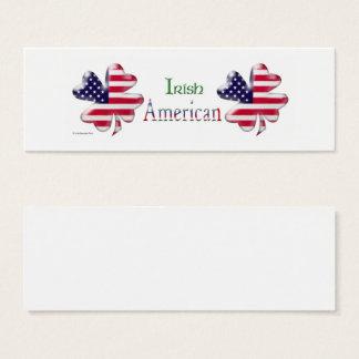Irischer Amerikaner Mini Visitenkarte