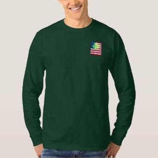Irischer amerikanische Flaggen-Kleeblatt-Klee St T-Shirt