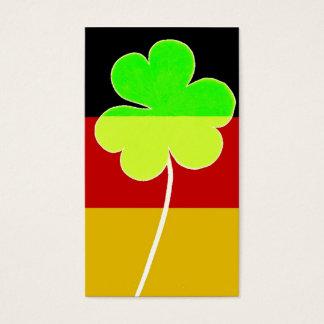 Irischer deutscher Flaggen-Kleeblatt-Klee-St- Visitenkarte