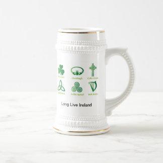 Irischer Erbstein, Celtic, Kleeblatt Bierglas