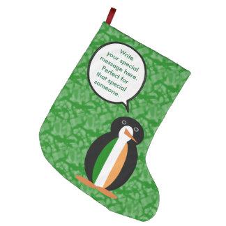 Irischer Feiertags-Herr Penguin Großer Weihnachtsstrumpf