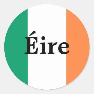 Irischer Flaggen-Aufkleber Runder Aufkleber