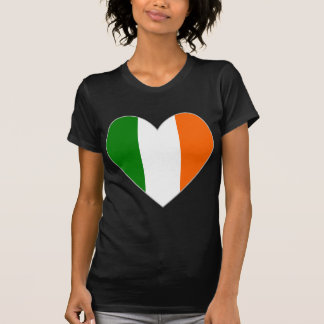 Irischer Flaggen-Herz-Valentinsgruß T-Shirt