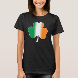 Irischer Flaggen-Kleeblatt-T - Shirt