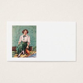 Irischer Frauen-Wasser-Klotz-Krug Visitenkarte