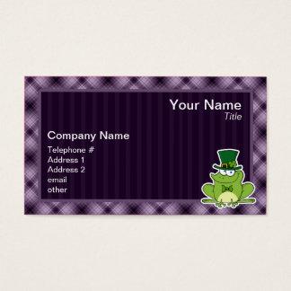 Irischer Frosch; Lila Visitenkarte