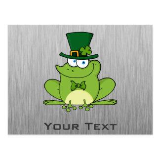 Irischer Frosch; Metall-Blick Postkarte