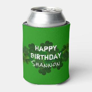 Irischer Geburtstags-personalisiertes Getränk Dosenkühler