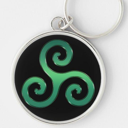 Irischer grüner Celtic Triskelion Keychain Schlüsselanhänger