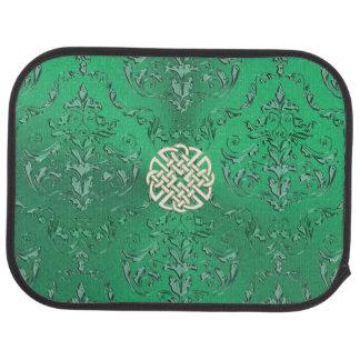 Irischer grüner Damast mit weißes Autofußmatte