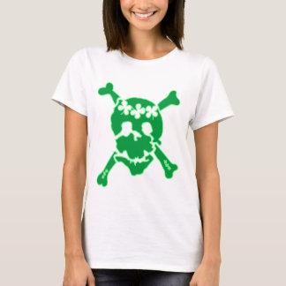 Irischer Kleeblatt-Schädel-T - Shirt