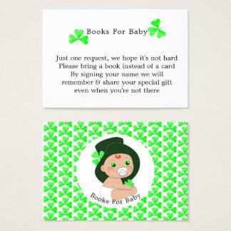 Irischer Kobold-glückliche Kleeblatt-Bücher für Visitenkarte