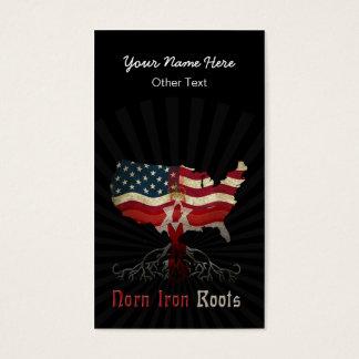 Irischer Nordamerikaner wurzelt Visitenkarten