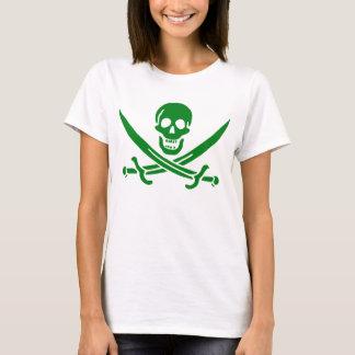 Irischer Piraten-Schädel-Flaggen-T - Shirt