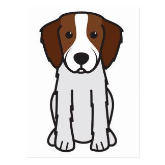 Irischer roter und weißer Setzer-HundeCartoon Postkarte