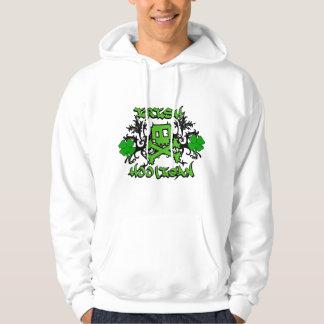 Irischer Rowdy mit gekreuzten Knochen Hoodie
