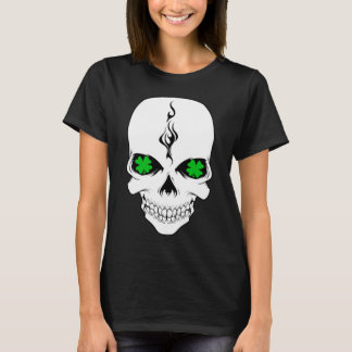 Irischer Schädel Smokin Kleeblatt-T - Shirt