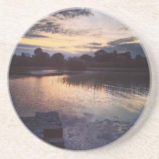 Irischer See Getränkeuntersetzer