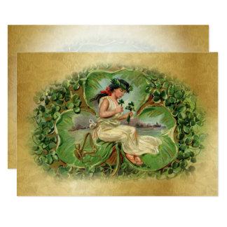Irischer Segen - flache 5 Karte