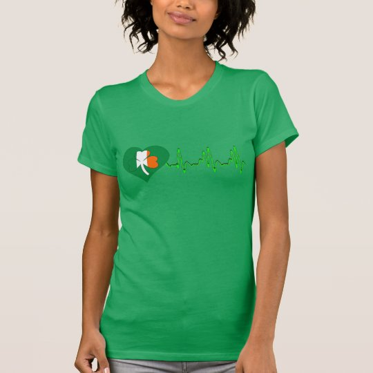 irischer Stolzherzschlag-Kleeblatt-T - T-Shirt