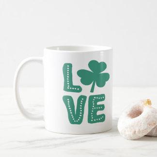 Irischer Tag Kleeblatt-Liebe-St. Patricks Kaffeetasse
