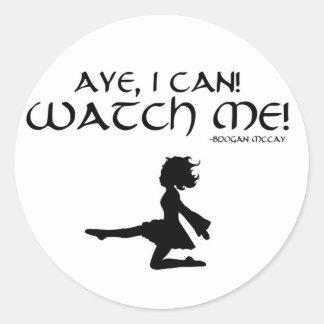 """Irischer Tänzer """"ja kann ich!"""" Aufkleber"""