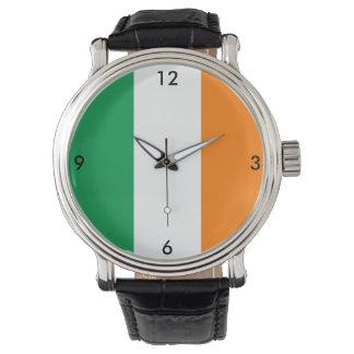 Irisches Flaggen-Grün-weiße orange Uhr Irlands