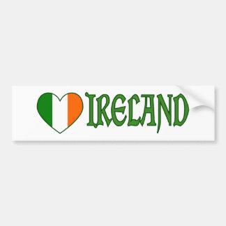 Irisches Flaggen-Herz Irland Autoaufkleber