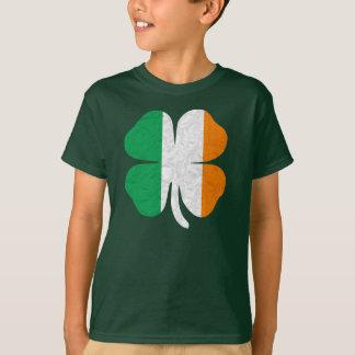 Irisches Flaggen-Kleeblatt T-Shirt