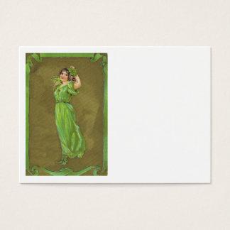 Irisches Frauen-Kleeblatt Visitenkarte