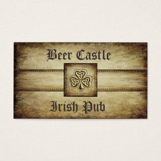 Irisches glückliches Kleeblatt des beruflichen Visitenkarte