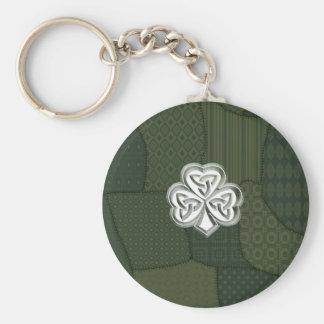 Irisches glückliches Kleeblatt des Trendy retro Schlüsselanhänger