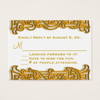 Irisches Goldmonogramm-Hochzeit UAWG Visitenkarte